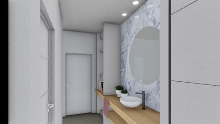 Vivienda en Duplex: Baños de estilo moderno por ARBOL Arquitectos