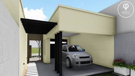 Garajes ideas im genes y decoraci n homify for Una dimensione del garage per auto