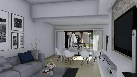 Remodelación y ampliación Vivienda: Livings de estilo escandinavo por ARBOL Arquitectos