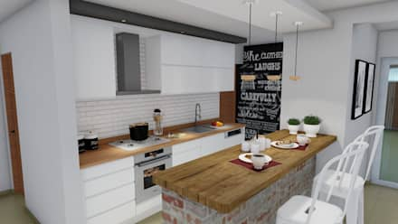 Remodelación y ampliación Vivienda: Cocinas de estilo escandinavo por ARBOL Arquitectos
