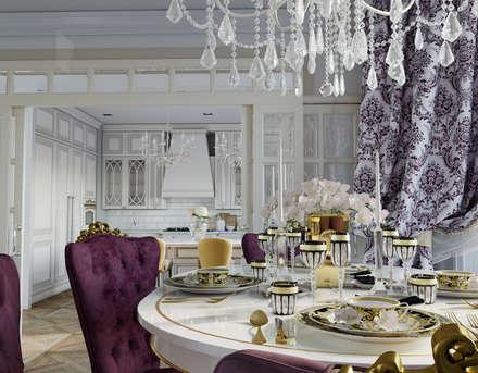 Дизайн квартиры 170 кв.м. г. Москва: Столовые комнаты в . Автор – Дизайн студия Simply House