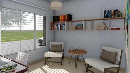 Vivienda compacta y funcional: Estudios y oficinas de estilo moderno por ARBOL Arquitectos