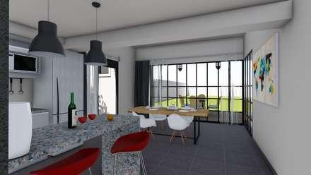 industrial Dining room by ARBOL Arquitectos