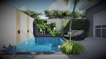 สระในสวน by Trivisio Consultoria e Projetos em 3D