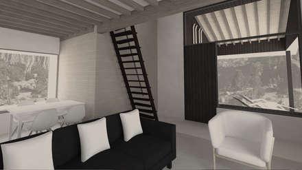 SMART HOME CONCEPT: Salones de estilo rústico de Nexus Estudio