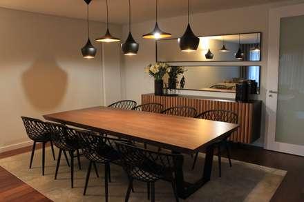 Sala de Jantar: Salas de jantar industriais por NOZ-MOSCADA INTERIORES