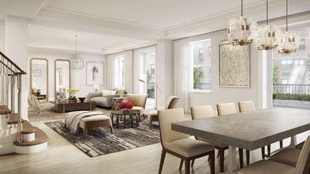 272 West 86th | Living room: Soggiorno in stile in stile Coloniale di GD Arredamenti
