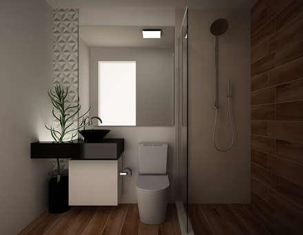 Banheiro Social: Banheiros modernos por Area 3 Arquitetura