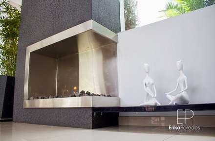 Chimenea Esquinada: Anexos de estilo moderno por EPG  Studio