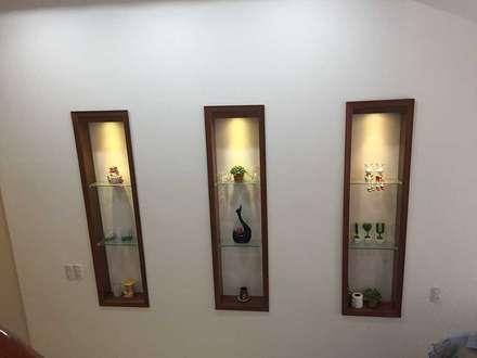 Những chi tiết trang trí tinh tế của ngôi nhà:  Tường by Công ty TNHH Thiết Kế Xây Dựng Song Phát