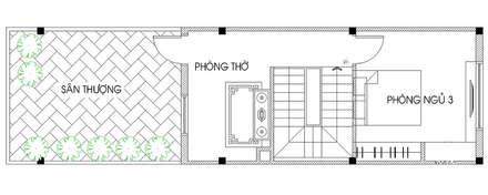 Bản vẽ mặt bằng tầng 3:  Nhà gia đình by Công ty TNHH Thiết Kế Xây Dựng Song Phát