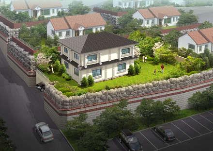 전경: (주)건축&건축사사무소예일의  목조 주택