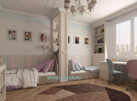 غرفة نوم مراهقين  تنفيذ Дизайн студия 'Дизайнер интерьера № 1'