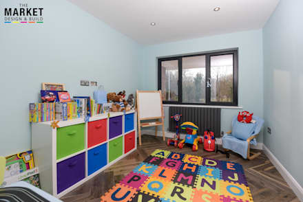 Pinner House Extension and loft Conversion: modern Nursery/kid's room by The Market Design & Build