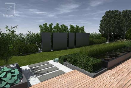 Dekoracyjne ściany ogrodowe: styl , w kategorii Ogród zaprojektowany przez MIA studio