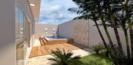 Piscinas de jardín de estilo  por Sitá Arquitetura e Urbanismo