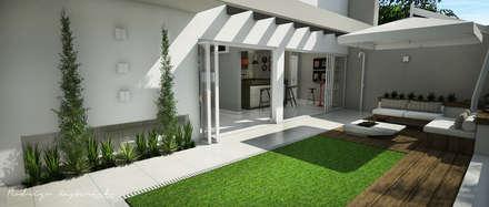 Área externa: Jardins zen  por Rodrigo Westerich - Design de Interiores