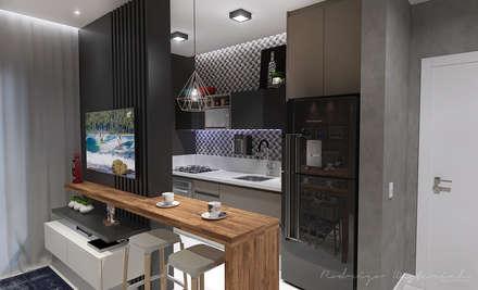 Kitchen units by Rodrigo Westerich - Design de Interiores