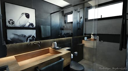 industrial Bathroom by Rodrigo Westerich - Design de Interiores