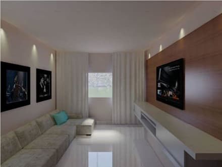 غرفة المعيشة تنفيذ Imaginare Arquitetura e Interiores