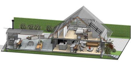 REMODELACIÓN DE VIVIENDA GMS. FL. Miami. USA.: Casas de madera de estilo  por Eisen Arquitecto