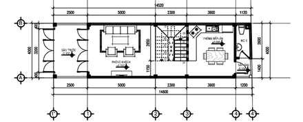 Mặt bằng tầng 1:  Nhà gia đình by Công ty TNHH Thiết Kế Xây Dựng Song Phát