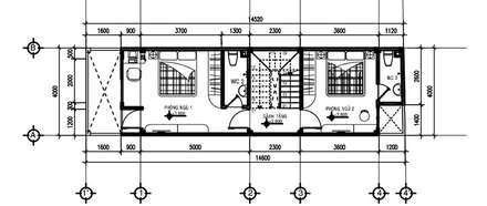 Mặt bằng tầng 2:  Nhà gia đình by Công ty TNHH Thiết Kế Xây Dựng Song Phát