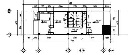 Mặt bằng tầng 3:  Nhà gia đình by Công ty TNHH Thiết Kế Xây Dựng Song Phát