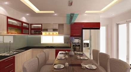 Khu vực phòng khách – bếp – phòng ăn:  Tủ bếp by Công ty TNHH Xây Dựng TM – DV Song Phát