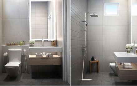 Thiết Kế Nội Thất Nhà Phố Đẹp Cho Ngôi Nhà Thêm Ấn Tượng:  Phòng tắm by Công ty TNHH Xây Dựng TM – DV Song Phát