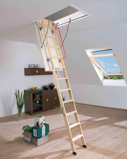 Wooden doors by Katlanır Çatı Merdivenleri