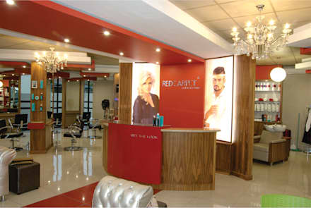 Red Carpet Hairdressing :  Commercial Spaces by DE FRANCA ARCHITECTURE + DESIGN