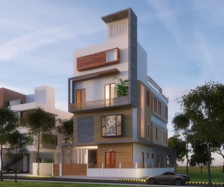 elevation modern houses by geometrixs architects engineers - Modern Houses Photos