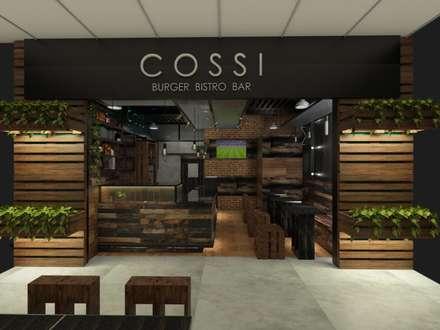 Diseño interior y remodelación comercial: Restaurantes de estilo  por MAHO arquitectura y diseño, C.A