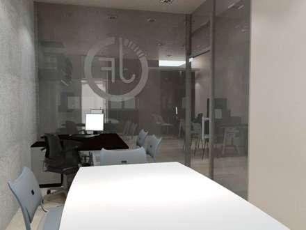 Diseño Interior Oficina : Oficinas de estilo moderno por MAHO arquitectura y diseño, C.A