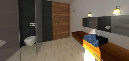 Aseo servicio : Baños de estilo rústico de Asun Montoya Estudio Interiorismo