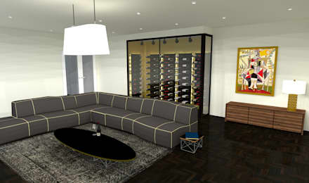 modern Wine cellar by Volo Vinis