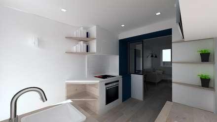 Duplex 62m² - Rue des Alpes: Cuisine de style de style Scandinave par SAS Alexandre TRIPIER