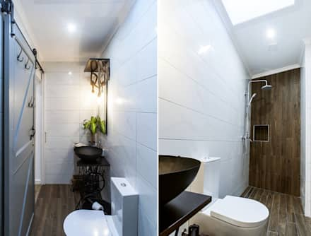 Little Corner @ Silver Coast: Casas de banho campestres por Dolcenea Design