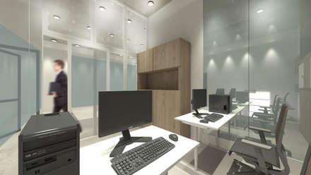 Office Area:  Ruang Kerja by ARAT Design