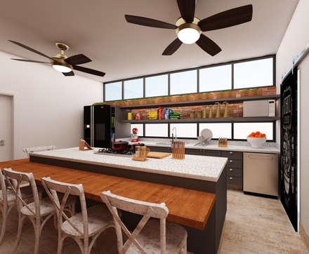 Nhà bếp by AM arquitetura e interiores