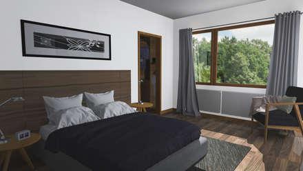 CASA M-M: Dormitorios de estilo minimalista por Pro Aus Arquitectos