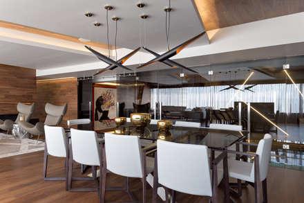 Remodelación Departamento Frondoso, CDMX.: Comedores de estilo moderno por Art.chitecture, Taller de Arquitectura e Interiorismo 📍 Cancún, México.