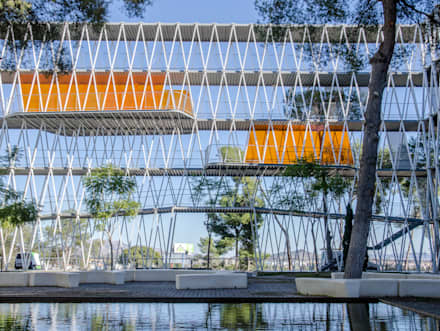 Parque Científico Murcia: Casas ecológicas de estilo  de JNR visual
