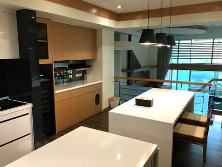 廚具及中島設計案:  酒窖 by 捷士空間設計