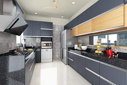 kitchen:  Kitchen units by Neelanjan Gupto Design Co