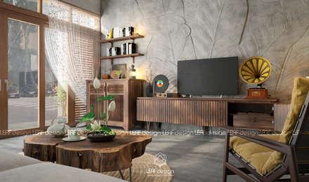 Salas / recibidores de estilo asiático por LEAF Design