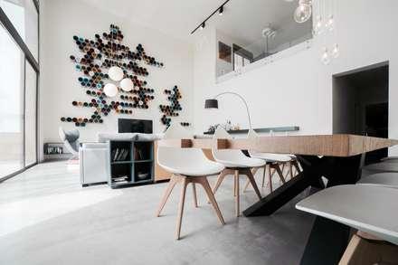 Loft Contemporáneo: Comedores de estilo minimalista de Noëlla Aoun Design Studio