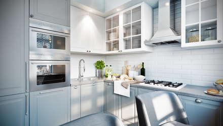 Голубая вуаль: Кухни в . Автор – CO:interior