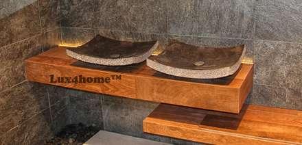 Black Stone Wash basin - Marble Wash basins: scandinavian Bathroom by Lux4home™ Indonesia